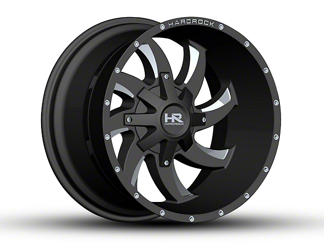 Hardrock Offroad H701 DEVIOUS Black Milled 6-Lug Wheel - 20x12 (04-18 F-150)