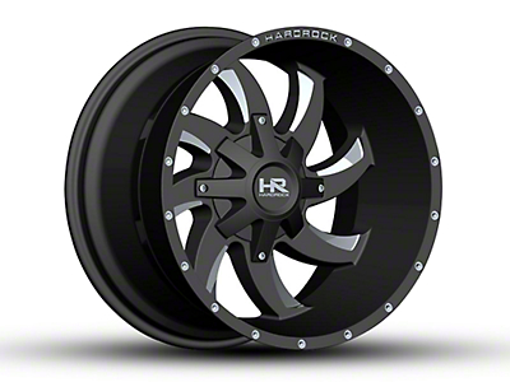 Hardrock Offroad H701 DEVIOUS Black Milled 6-Lug Wheel - 20x12 (04-18 All)