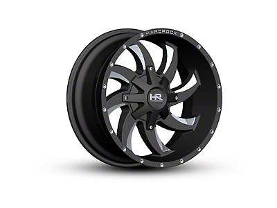Hardrock Offroad H701 DEVIOUS Black Milled 6-Lug Wheel - 22x10 (04-18 All)