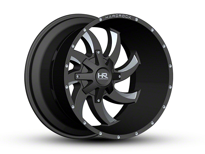 Hardrock Offroad H701 DEVIOUS Black Milled 6-Lug Wheel - 22x14 (04-18 F-150)