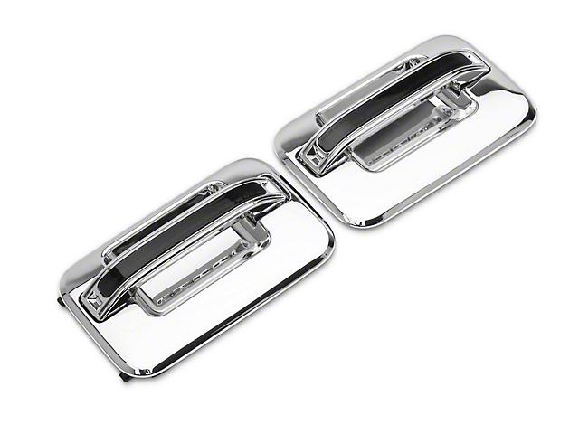 Alteon Rear Chrome Door Handles w/ Amber LED & Smoked Lens (04-08 F-150 SuperCrew)