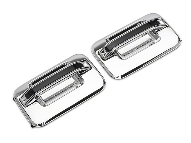 Rear Chome LED Door Handles; Red LED; Smoked Lens (04-08 F-150 SuperCrew)