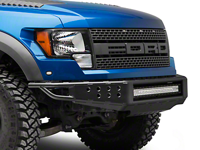 RedRock 4x4 Tubular Off-Road Front Bumper w/ 30 in. LED Light Bar (10-14 F-150 Raptor)