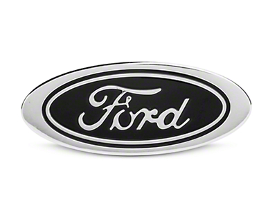 Defenderworx Oval Ford Script Hitch Cover - Black (97-18 All)