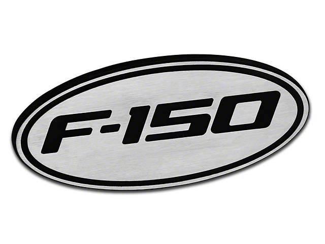 Defenderworx Oval Hitch Cover w/ F-150 Logo - Brushed (97-18 All)
