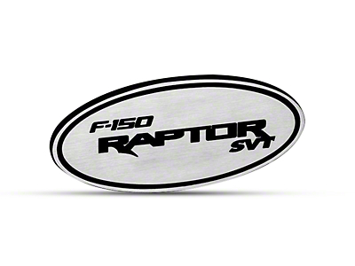 Defenderworx Oval Hitch Cover w/ F-150 Raptor SVT Logo - Brushed (97-18 All)