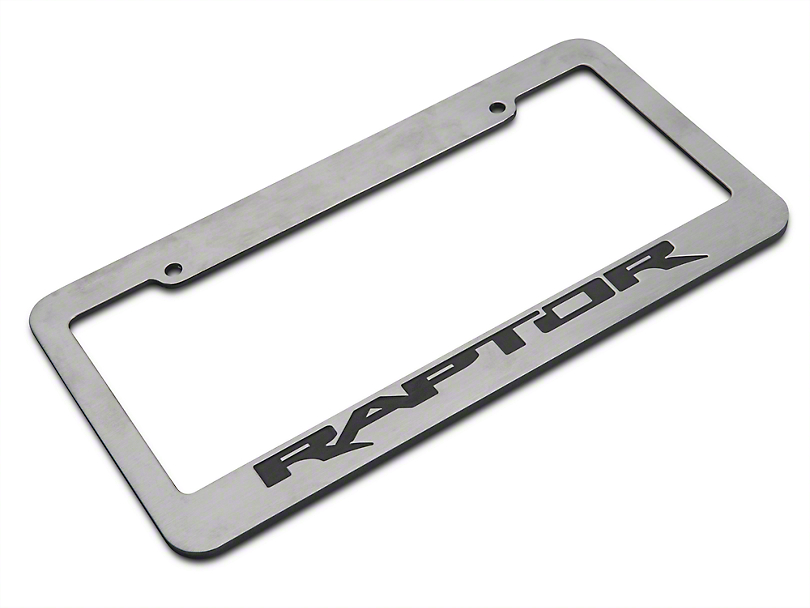 Chrome License Plate Frame w/ Raptor Logo (97-19 F-150)