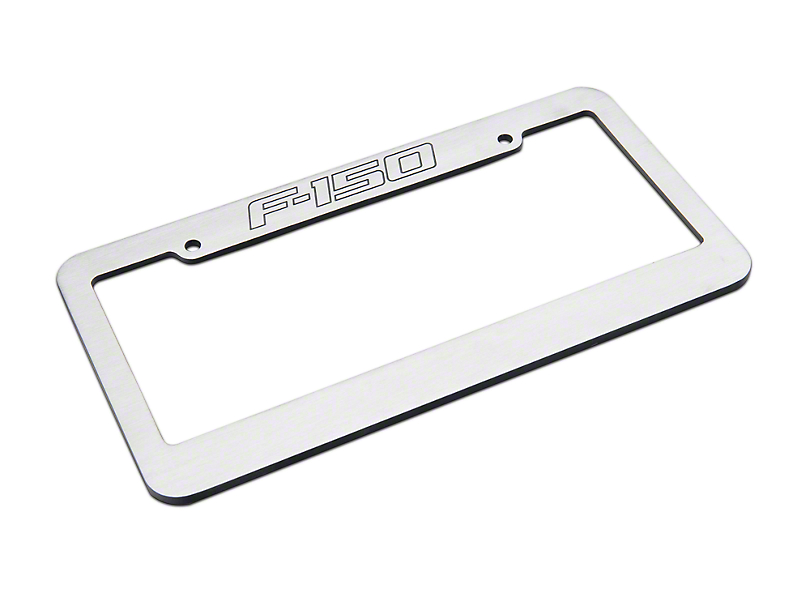 Defenderworx Brushed License Plate Frame w/ F-150 Logo (97-18 All)