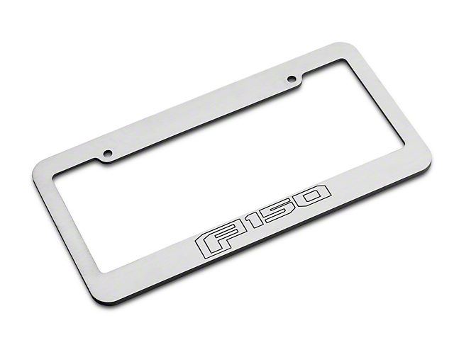 Brushed License Plate Frame w/ 2015 Style F-150 Logo (97-19 F-150)