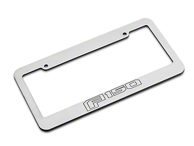 Defenderworx Brushed License Plate Frame w/ 2015 Style F-150 Logo (97-18 F-150)
