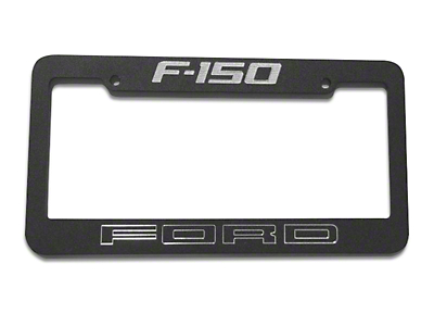 Defenderworx Black License Plate Frame w/ Ford F-150 Logo (97-18 F-150)