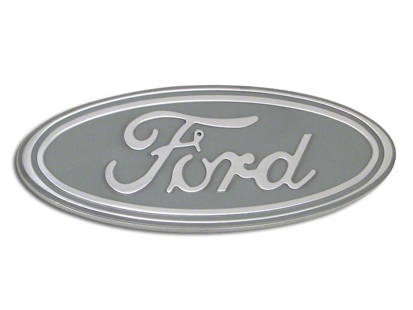 Defenderworx Ford Oval Grille or Tailgate Emblem - Silver (04-14 F-150 w/o Backup Camera)