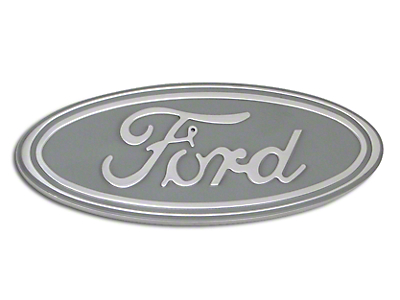 Defenderworx Ford Oval Grille or Tailgate Emblem - Silver (04-14 w/o Backup Camera)