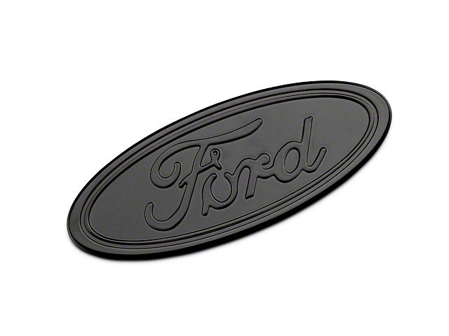 Defenderworx Ford Oval Grille or Tailgate Emblem - Gloss Blackout (04-14 w/o Backup Camera)