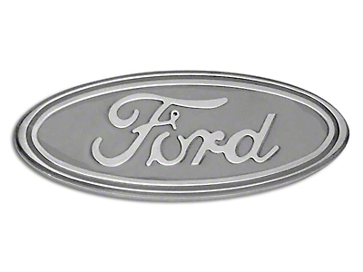 Defenderworx Ford Oval Grille or Tailgate Emblem - Gloss White (04-14 w/o Backup Camera)