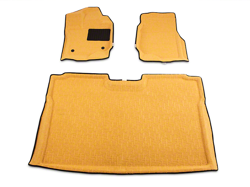 Albermo Front & Rear Floor Mats - Gold (15-19 F-150 SuperCrew)