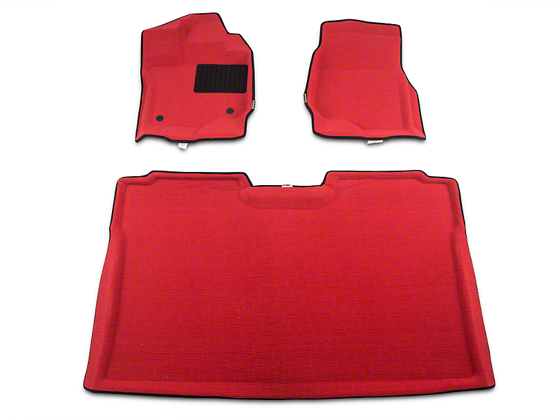 Defenderworx Albermo Front & Rear Floor Liners - Red (15-18 F-150 SuperCrew)