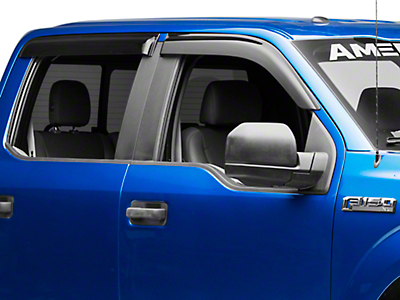 Defenderworx Albermo Front & Rear Window Deflectors - Smoked (15-18 F-150 SuperCrew)