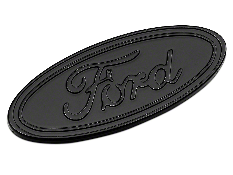 Defenderworx Ford Oval Tailgate Emblem - Gloss Blackout (15-19 F-150)