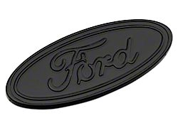 Defenderworx Ford Oval Tailgate Emblem; Gloss Blackout (16-20 F-150 w/o Tailgate Applique)