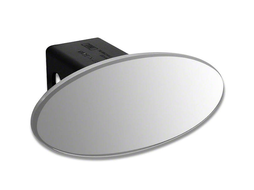 Defenderworx 3.5 in. Oval Hitch Cover - Brushed (97-18 All)