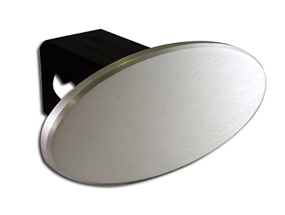 Defenderworx 3.5 in. Oval Hitch Cover - Polished (97-18 All)