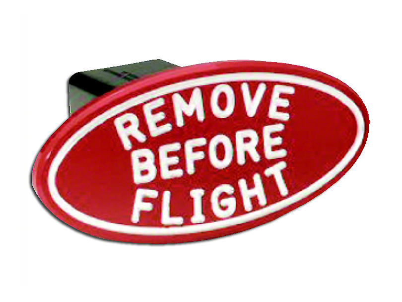 Defenderworx Oval Remove Before Flight Hitch Cover (97-18 F-150)