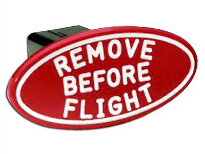 Defenderworx Oval Remove Before Flight Hitch Cover (97-18 All)