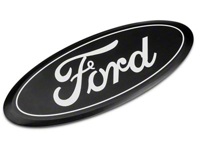 Defenderworx Ford Oval Tailgate Emblem - Black (16-19 F-150 w/o Tailgate Applique)