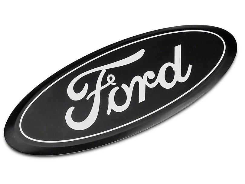 Ford Oval Tailgate Emblem - Black (15-19 F-150)