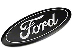 Defenderworx Ford Oval Tailgate Emblem; Black (15-20 F-150 w/ Tailgate Applique)