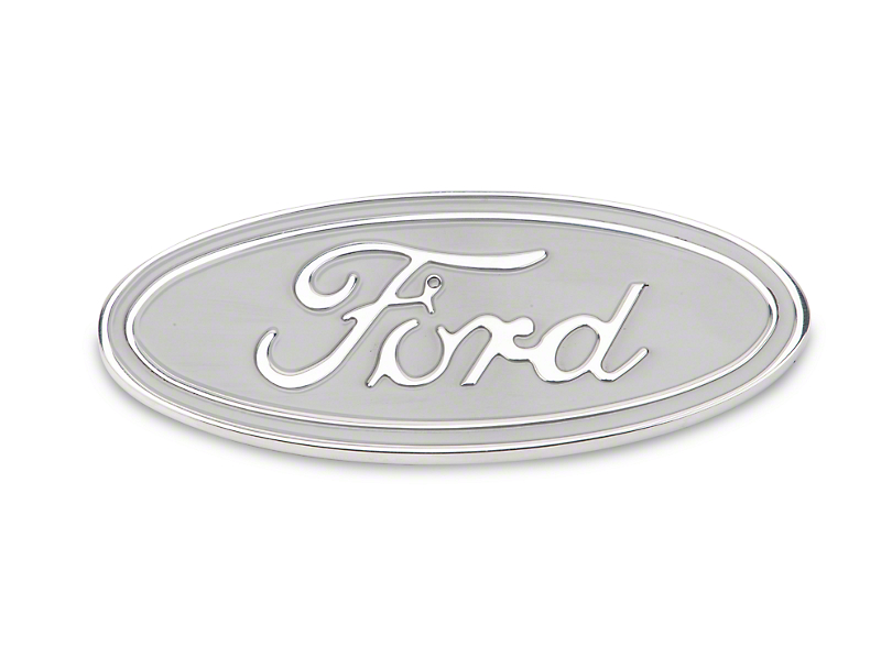 Defenderworx Ford Oval Tailgate Emblem - Silver (15-18 All)