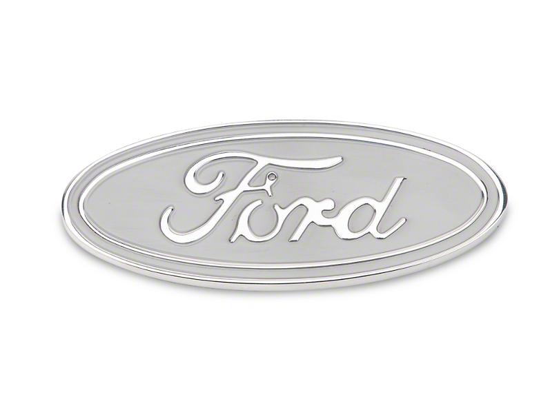 Defenderworx F 150 Ford Oval Tailgate Emblem Silver
