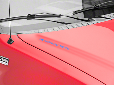 Roush ROUSHcharged Hood Scoop Decal - Blue (04-08 F-150)