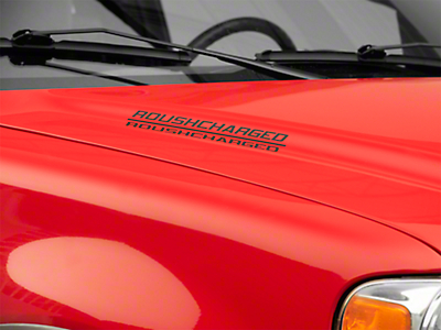 Roush ROUSHcharged Hood Scoop Decal - Matte Black (04-08 All)