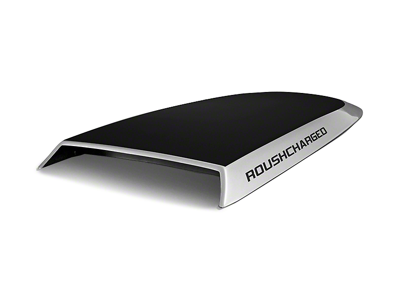 Roush ROUSHcharged Hood Scoop Decal - Silver (04-08 F-150)