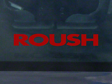 Roush Rear Window Decal - Red (97-18 All)
