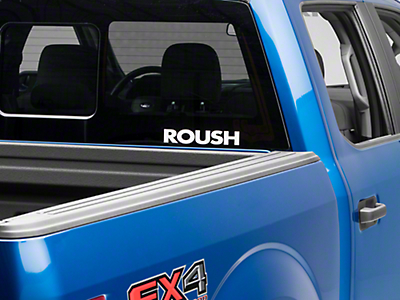 Roush Rear Window Decal - White (97-18 All)