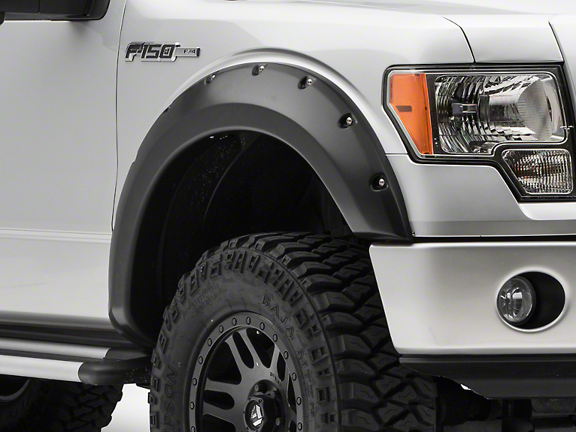 Rough Country Pocket Style Fender Flares - Flat Black (09-14 F-150 Styleside, Excluding Raptor)