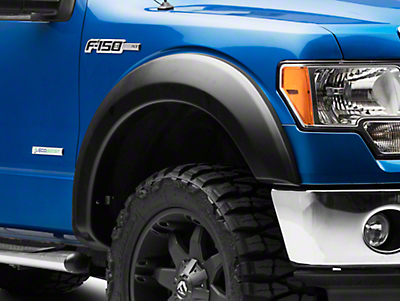 Rough Country Smooth Fender Flares - Flat Black (09-14 Styleside, Excluding Raptor)