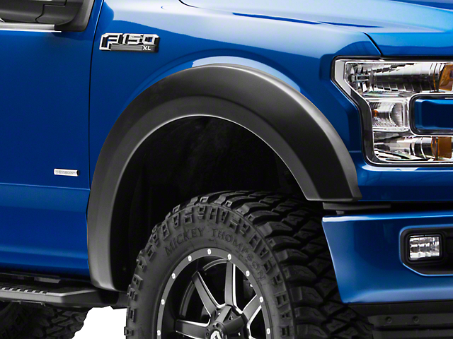 Rough Country Smooth Fender Flares - Flat Black (15-17 All, Excluding Raptor)