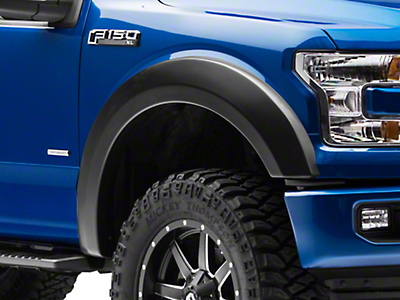 Rough Country Smooth Fender Flares - Flat Black (15-17 F-150, Excluding Raptor)