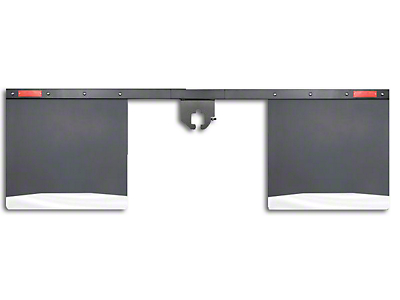 Husky 2.5 in. Receiver Hitch Mount Mud Flaps - 74 in. Wide (97-18 All)