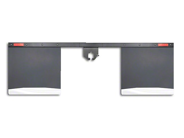 Husky 2 in. Receiver Hitch Mount Mud Flaps - 96 in. Wide (97-18 All)