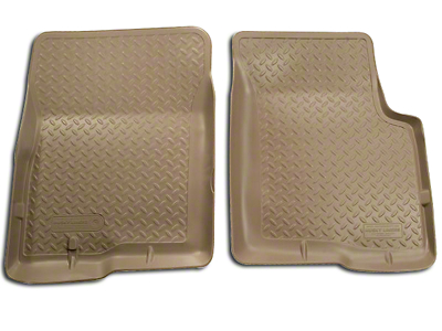Husky Classic Front Floor Liners - Tan (01-03 SuperCrew)