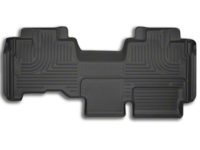 Husky X-Act Contour 2nd Seat Floor Liner - Black (09-14 SuperCab)