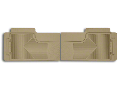 Husky Heavy Duty 2nd Row Floor Mats - Tan (97-10 SuperCab, SuperCrew)