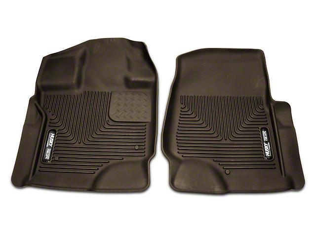 Husky X-Act Contour Front Floor Liners - Cocoa (15-18 SuperCab, SuperCrew)