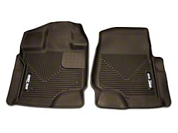 Husky X-Act Contour Front Floor Liners - Cocoa (15-19 F-150 SuperCab, SuperCrew)