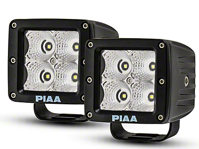 PIAA 3 in. Quad Series LED Cube Lights - Flood Beam - Pair (97-18 All)